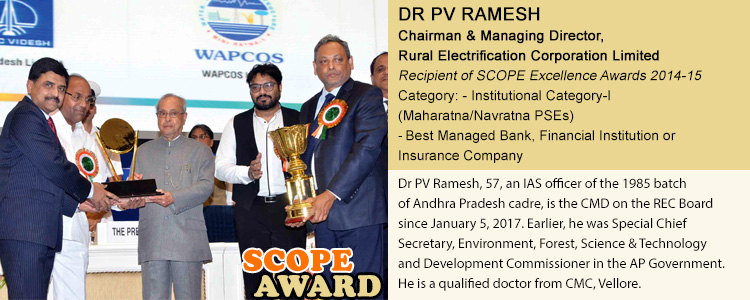 DR PV RAMESH Chairman & Managing Director, Rural Electrification Corporation Limited