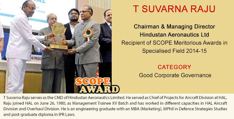 T SUVARNA RAJU Chairman & Managing Director Hindustan Aeronautics Ltd