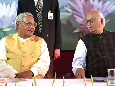 Atal Behari Vajpayee and L K Advani