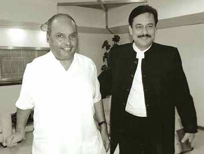 Dhirubhai Amabi and Subrata Roy