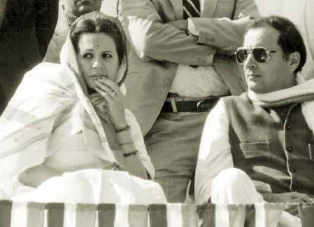 Rajiv Gandhi and his wife Sonia Gandhi
